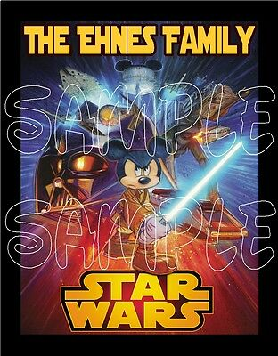 Personalized Disney Mickey Mouse Star Wars Family Cruise Stateroom Door Magnet