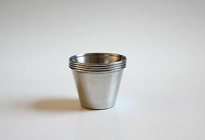 Set Of 4 Stainless Steel Sauce Cups Free Shipping