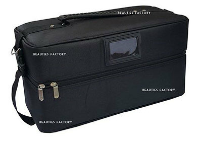 1Pc Cosmetic Box Space Black Colour Beauty Make up Nail Tech Vanity Case 1019