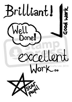 A7 'Stamps For Teacher' Unmounted Rubber Stamp (SP000810)