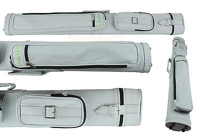 MITCHELL SILVER CUE TUBE CASE Two butts Two shafts - Snooker Billiards Pool