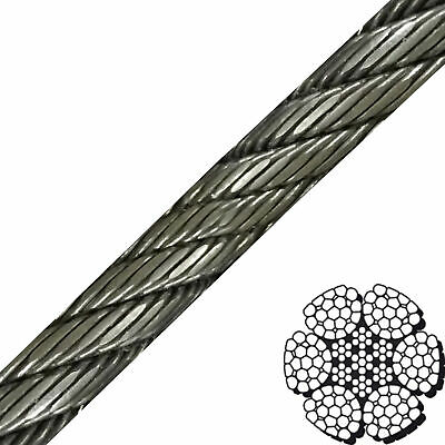 "1-1/8"" x 550' 6x26 Compacted & Swaged Wire Rope"