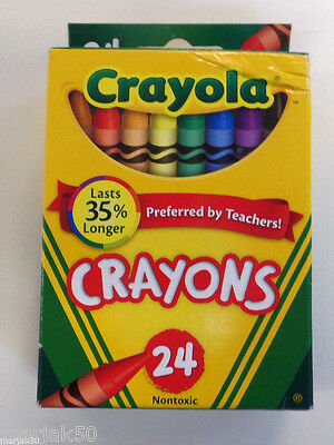 Crayola Crayons Each Contains 24 Crayons--Set Of 2 Boxes
