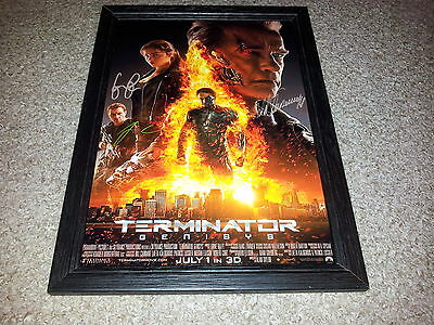 """Terminator 5 : Genisys Pp Signed & Framed 12""""x8"""" A4 Photo Poster Arnie"""