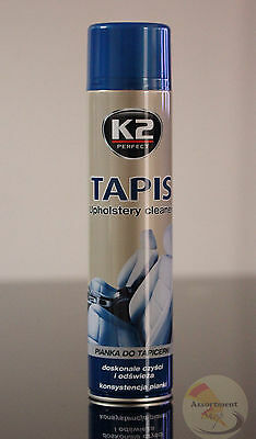 K2 TAPIS Car Upholstery Interior Seats Textile Cleaner Active Foam Stain Aerosol