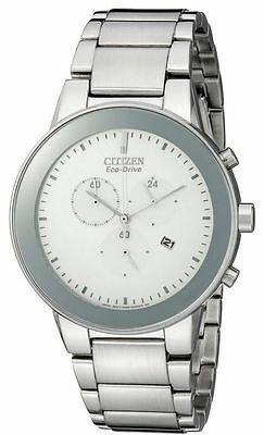 Authentic Citizen Men's Axiom Chronograph Eco-Drive Watch At2240-51A New In Box!