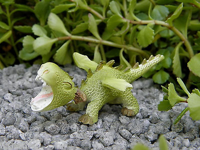 Miniature Dollhouse FAIRY GARDEN ~ Mini Dragon Roaring Figurine ~ NEW