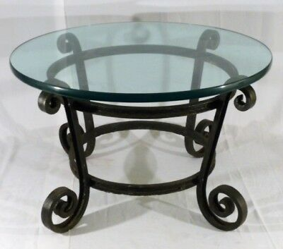 Antique French Iron Gueridon In/outdoor Side Table