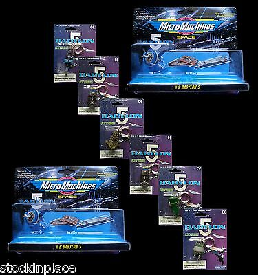 BABYLON 5 Micro Machines SETS & KEYRINGS (1995) Sealed FREE UK POSTAGE