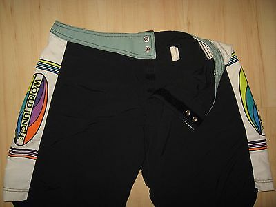 World Jungle Board Shorts - Vintage 1990's Jack Denny Surfer Beach Trunks Sz 32