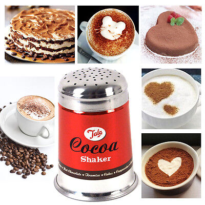 TALA Chocolate Shaker Sprinkler Classic Cocoa Cappuccino Coffee Latte Sifter RED