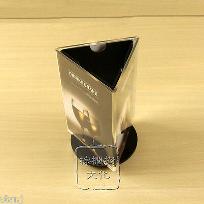3 Table Menu Holder Restaurant Cafe Club Bar Rotating Card Name Stand Display