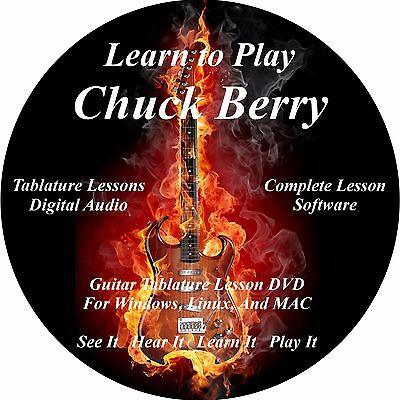 Chuck Berry Guitar TABS Lesson CD 37 Songs + Backing Tracks + BONUS!