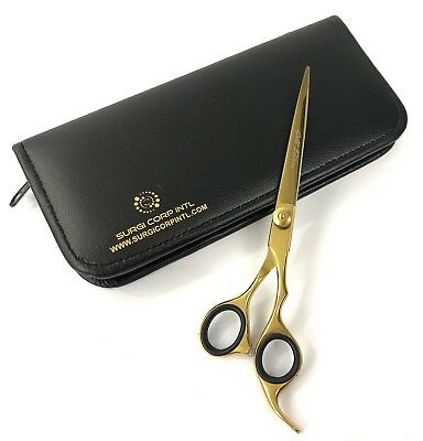 "Professional Pet Grooming  Scissors LIMITED EDITION GOLD  Size 7.5"" Free Case ."