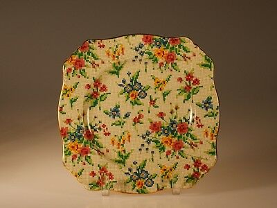 """British Royal Winton """"Queen Anne"""" Square Salad Plate"""
