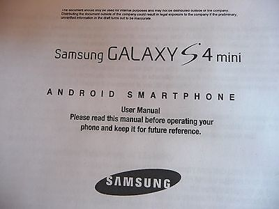 Samsung Galaxy S4 mini android smartphone User Manual
