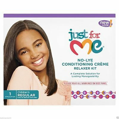 Just For Me No-Lye Conditioning Cream Relaxer Kit Regular One Application