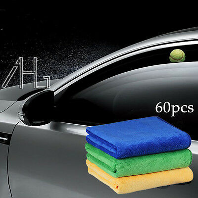 60X Large Microfibre Cleaning Cloth Towel Car Cleaning Valeting Polishing Duster