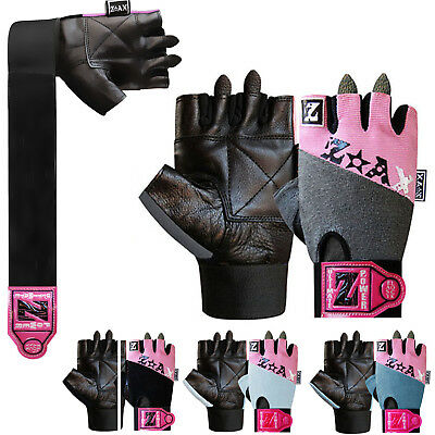 LADIES Weight Lifting Gloves Leather Gym Fitness Workout Body Building Gloves