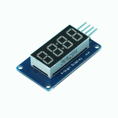 4 Bit 8-Segment Digital Tube Red LED Display Module /w Clock TM1637 for Arduino
