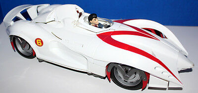"Speed Racer 15"" Mach 6 Movie Talking Car Lights And Sound W/driver Item #m4208"