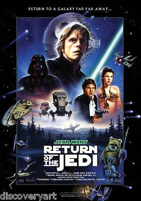 Star Wars Revenge of the Sith Yoda 2005 Movie Poster Canvas Wall Art Print Sc-Fi