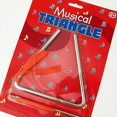 Musical Triangle Metal Percussion Instrument for Kids Metal Age 2+ NEW