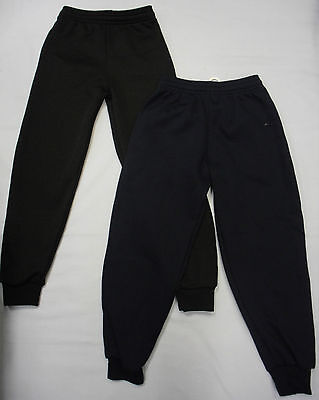 Childrens Kids Boys Girls Jogger Jogging Pants  Elasticed Bottoms School PE Gym