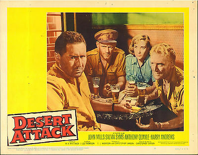 Desert Attack / Ice Cold In Alex - John Mills - Original American Lobby Card Set
