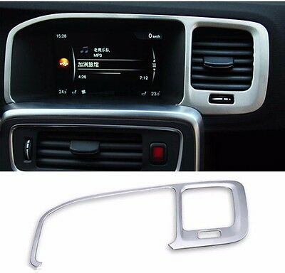 Stainless Steel Navigation Frame Cover Trim Interior Decor For Volvo S60 V60