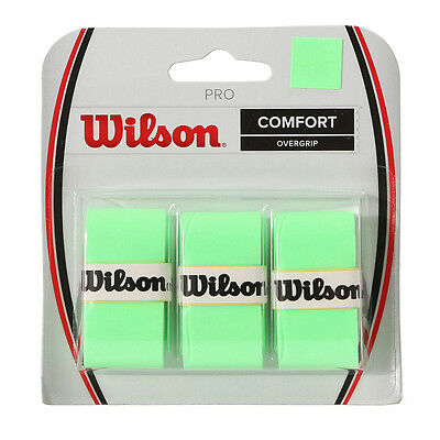Wilson Pro Overgrip Comfort 3 Pack Green WRZ4014 With Free Tracking