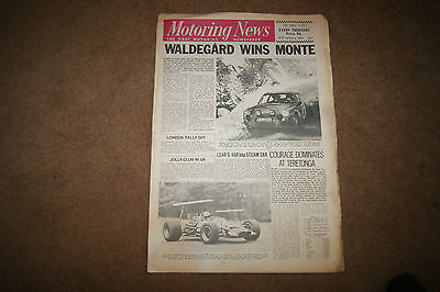 Motoring News 30 January 1969 Monte Carlo Rally Ford Capri Lady Wigram Rindt