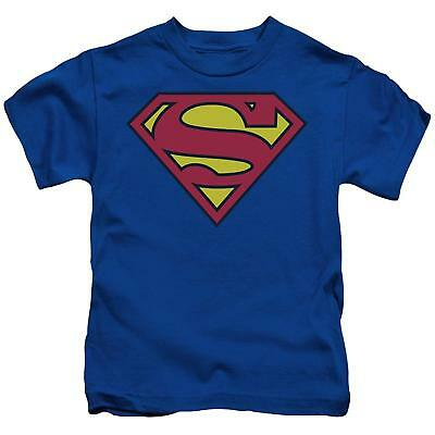 Adult Men's DC Comics Super Hero Superman Original Classic Logo Blue T-shirt Tee