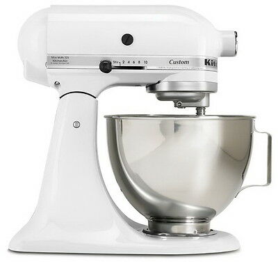 kitchenaid k45sswh k45ss classic 275 watt 4 1 2 quart stand mixer white cad picclick ca. Black Bedroom Furniture Sets. Home Design Ideas