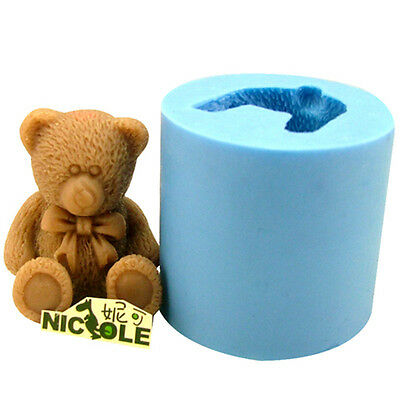 Bear Silicone Soap Molds Candle Making Resin Craft Clay Mould Chocolate Candy