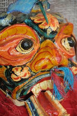 Old Asian Fiber Mache Dance Mask / Wall Hanging…  great collector's piece...
