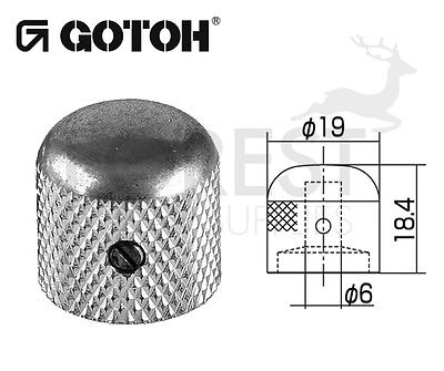Gotoh VK1-19 dome metal Knob aged chrome 19mm, RELIC series