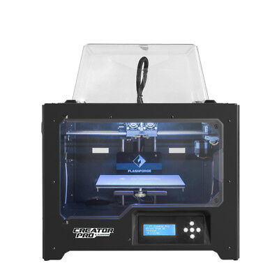 Flashforge 3D Printer Creator Pro Dual Head Metal Frame and Build Plate Assembly