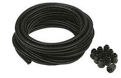 20mm 10M Black Flexible Conduit Corrugated Cable Tube Contractor Pack (Copex)