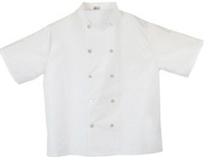 White Short Sleeve Chef Coat 10 Button Jacket