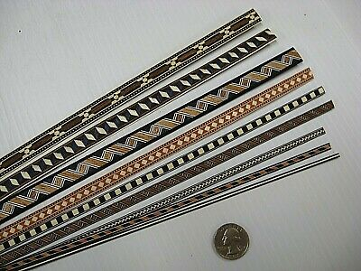 Sample Pack! Decorative Veneer Inlay Banding, 9yds Various Styles