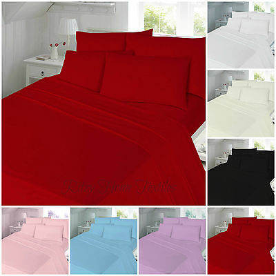 Thermal Flannelette 100% Brushed Cotton Flat or Fitted Sheet Single Double King