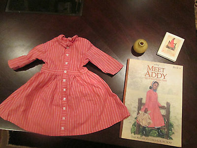 American girl Addy MEET DRESS~BOOK~MINI BOOK
