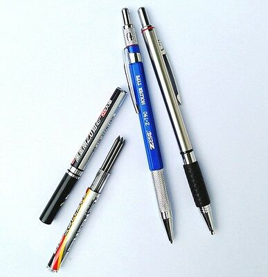 2 PCS 2.0 mm Lead Holder Mechanical Pencil with 2 tubes Pencil Lead Refill