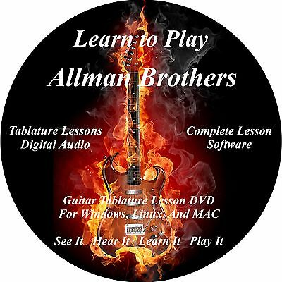 Allman Brothers Guitar TABS Lesson CD 55 Songs + Backing Tracks + BONUS