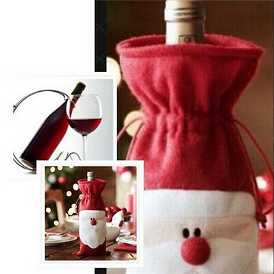 1pc Christmas essential Gift Bags Santa Claus Christmas Red Wine Bottle Bags
