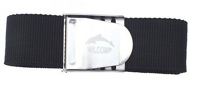 Scuba Diving Black Weight Belt with Stainless Steel Buckle WIL-WB-02B