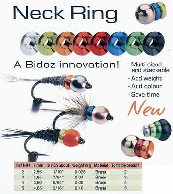 Bidoz Neck Rings /2,55mm NR2*/fly tying beads,25pcs per pack/materiale montaggio