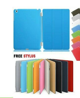 Ultra thin magnetic leather 2 piece smart case cover stand for Apple iPad 5 air
