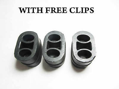 X3 Vauxhall Zafira Rubber Hanger Support Mount Exhaust Silencer Clamp Free Clips